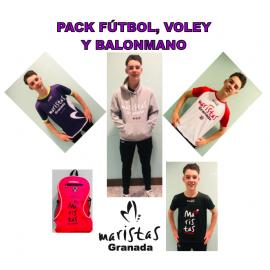 1.1 PACK COMPLETO FÚTBOL, BALONMANO Y VOLEY MARISTAS GRANADA AHORRO 44€