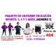 1.3 Paquete nº 3 uniforme para Educación Infantil colegio Padre Manjón