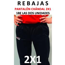 1 Oferta Pantalón Chandal 2X1. Pack 2 unidades por sólo 18€