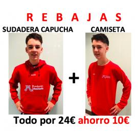 1 OFERTA Sudadera capucha + Camiseta manga. AHORRO 10€