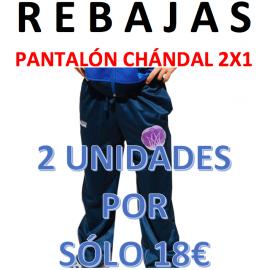 1Oferta Pantalón Chandal 2X1. Pack 2 unidades por sólo 18€