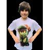 Camiseta efecto algodón de manga corta personalizable a todo color pecho y espalda
