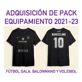 ADQUISICIÓN DEL PACK DE EQUIPAMIENTO DE FÚTBOL, BALONMANO Y VOLEY CD MARISTAS GRANADA  2021-2023